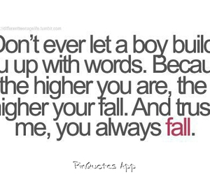 boy, fall, and words image