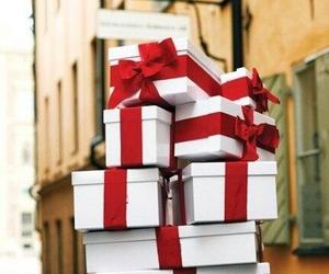 present, christmas, and red image