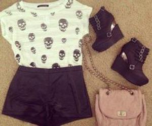 look, black, and skull image