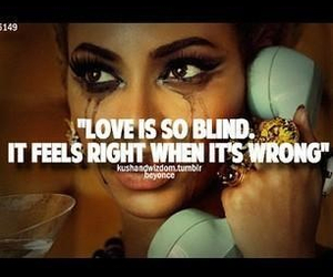 love, blind, and wrong image