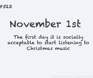 november, christmas, and music image