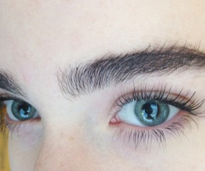 eyes, pale, and eyebrows image