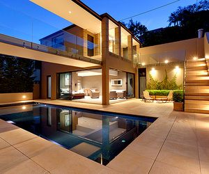 house, pool, and luxury image