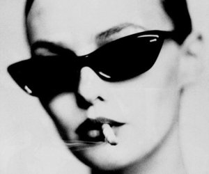 girl, cigarette, and sunglasses image