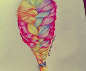 braid, colors, and cool image