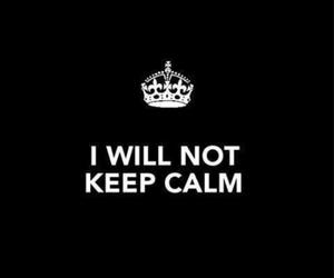 black, crown, and keep calm image
