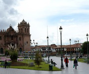 cathedral, peru, and cuzco image