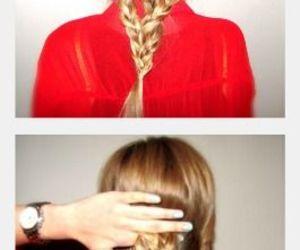 hair, sencillos, and style image