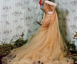 dress, emilie simon, and gown image