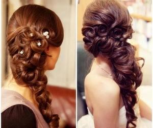 brown, formal, and hair image