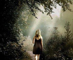 Dream, girl, and light image