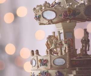 cute, carousel, and vintage image
