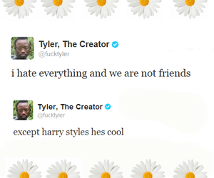 Harry Styles, tyler the creator, and twitter image