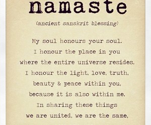 namaste, quote, and beauty image