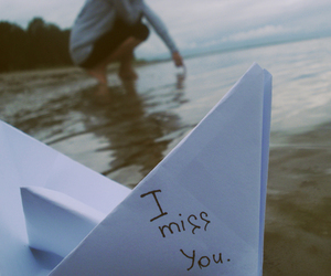 boat, i miss you, and text image