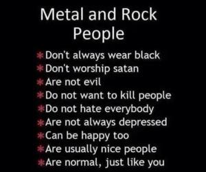 rock, metal, and music image