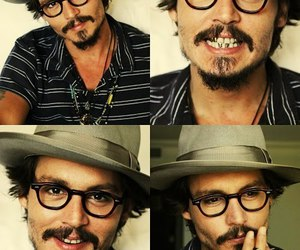 johnny depp, handsome, and actor image