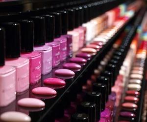 nails, nail polish, and pink image