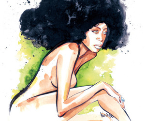 art, artwork, and black woman image