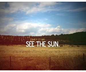 sun, photography, and text image