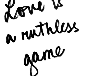 love, game, and quote image