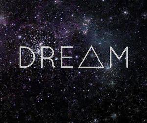 Dream, galaxy, and stars image