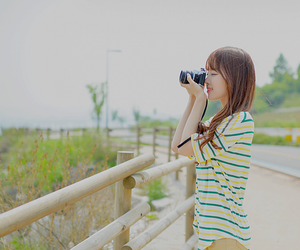 ulzzang, camera, and girl image