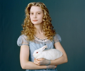 alice in wonderland, alice, and rabbit image