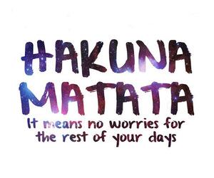 hakuna matata, quote, and no image