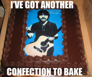 cake, dave grohl, and foo fighters image