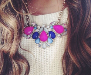 necklace, fashion, and pink image
