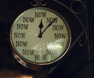 now, clock, and time image