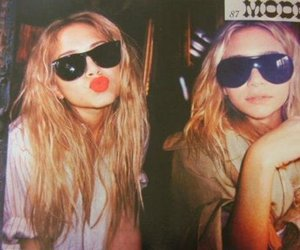 olsen, twins, and sunglasses image