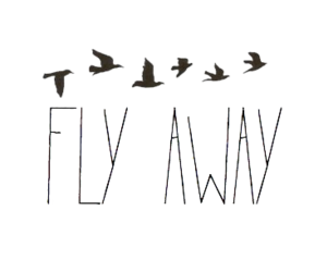 fly away, overlay, and quotes image