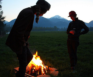 boy, fire, and guy image