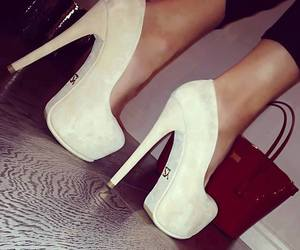 heels, style, and white heels image