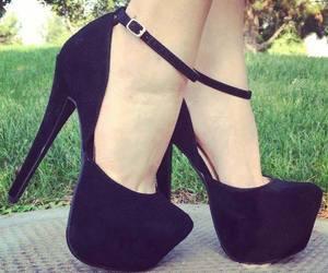 black, heels, and higheels image