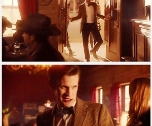 doctor who, eleven, and tea image