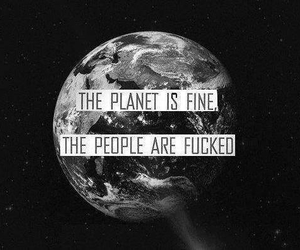 black and white, earth, and hipster image