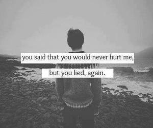 hurt, quote, and lies image