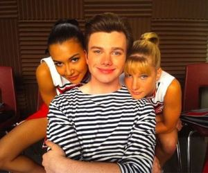 chris colfer, naya rivera, and glee image