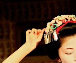 dance, geisha, and japan image