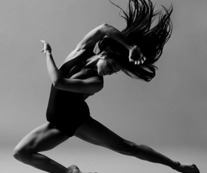 dance, dancer, and black and white image