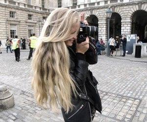 hair, blonde, and camera image