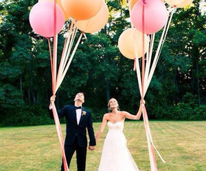wedding, love, and balloons image