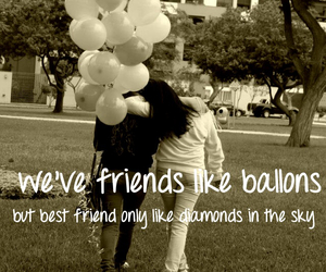 ballons, best friends, and blonde image
