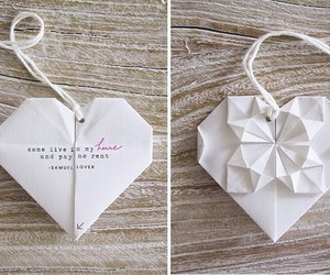heart, cute, and origami image