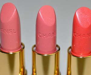 chanel, pink, and lipstick image
