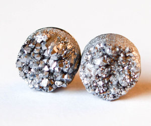 accessory, silver, and earring image