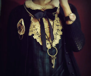 vintage, bow, and lace image